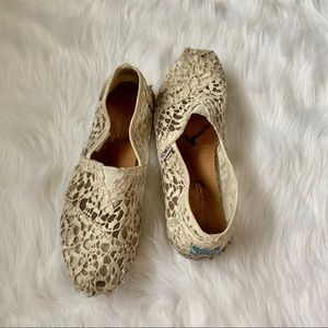 Size 7.5 lace toms🛍3 FOR $25🛍